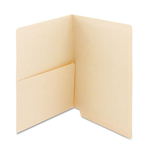 PDC Healthcare ETF143 End Tab Folder, 2-ply, No FAS, 11Pt Manila, Half Pocket on Left Side, 12-1/4'' x 9-1/2'' (Pack of 250) by PDC Healthcare (Image #1)