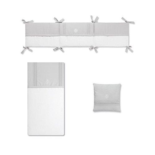 Bimbi Elite–Bettbezug, 72x 142cm, weiß und grau