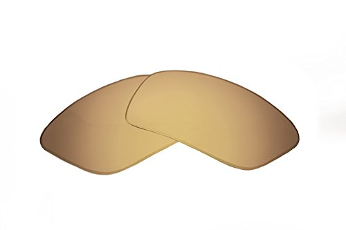SFx Replacement Sunglass Lenses fits Anon Comrade 62mm Wide (Ultimate Gold Mirror Brown Pair-Polarized)