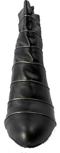 andiamo-womens-black-metallic-high-heel-ankle-boot-size-10m-us