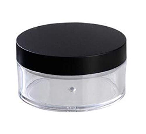 2 Pcs 50G 50ml Plastic Empty Powder Puff Case Face Powder Blusher Makeup Cosmetic Jars Containers With Sifter ()