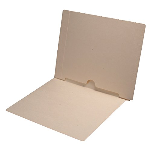 11 pt Manila Folders, Full Cut End Tab, Letter Size, Full Open Bottom Back Pocket (Box of 50)