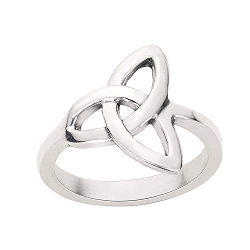 CloseoutWarehouse Sterling Silver Wicca Triquetra Ultimatum Ring Size 8 ()