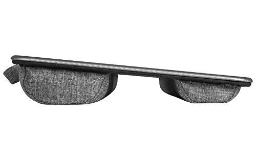 Lapgear Deluxe Laptop Lap Desk Silver Carbon Fits Upto