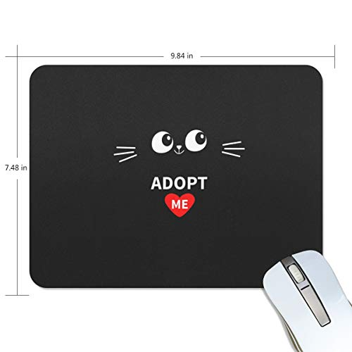 Non Slip Mouse Pad for Office, Computer, Laptop & Mac Mouse Mat Adopt Me Heart Love Cat Wrist Rests Waterproof -
