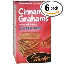 Pamelas Cinnamon Grahams, 7.5 Ounce, Pack of 6 by Pamela's Products