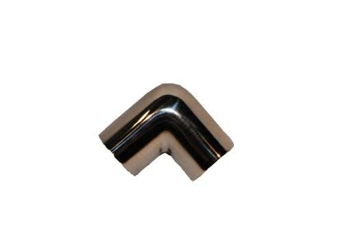 """Stainless Boat hand rail 90° elbow 1"""" 25mm"""