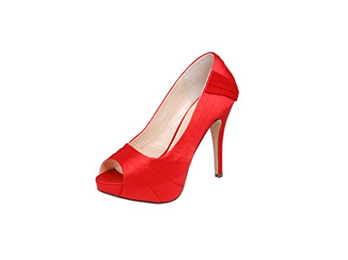 Ladies High Heel Platform Shoe, Available in Red, Black, Grey, Dusty Pink Red