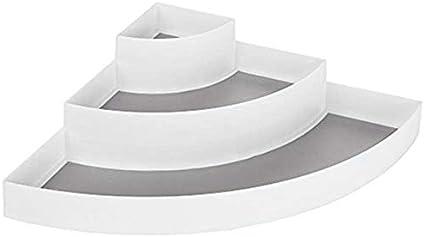 AMHDEE Especiero con 3 Niveles, Estantería Esquinera de Plástico con Diferentes Alturas para Cocina Organizador de Armarios para Especias, Latas, etc. Gris: Amazon.es: Hogar