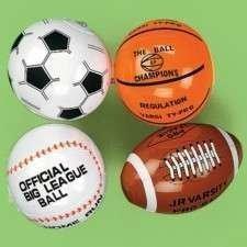 Mini Inflate Sports Balls - 12 per unit