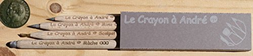 """""""Le Crayon a Andre"""" - Coin Cleaning 4 Pencil Set"""