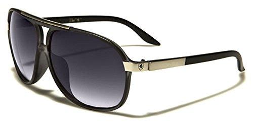 Black Bigarré Multicolore Lens Smoke Homme Silver Logo Black Lunettes de Multicolore soleil Khan Matte BqPfAX