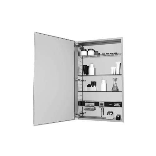 Robern MC2030D4FBL M-Series Mirror Cabinet with Beveled Edge Door, - Beveled Bathroom Mirrors Edge Tiered