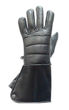 Leather Biker Gauntlets - 6