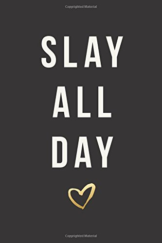 """Read Online Slay All Day: Daily Monthly & Weekly Academic Student Planner  2018-2019: Black with Yellow Heart, August 2018 - July 2019, 6"""" x 9"""" (Academic Student ... Women, Teenagers, Girls, Students & Teachers) pdf"""