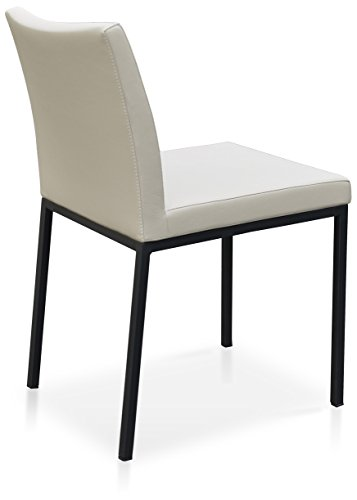 Soho Concept AriaCH-Ch-CrPPM Aria Chrome Dining Chair Base, Cream PPM (Chair Aria)