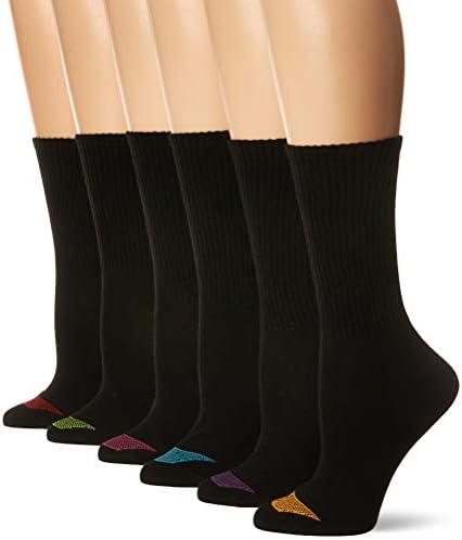 Hanes womens Ultimate Lightweight Vent Crew Sock 6-pack