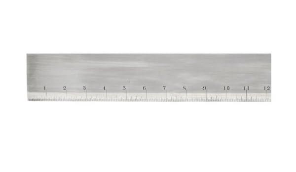 36 Length 7//32 Thickness Starrett 385-36 Steel Straight Edge With Bevel 2-13//32 Width