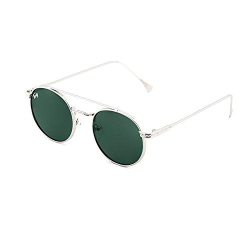 sol redondo Plata MONTESQUIEU de TWIG mujer hombre Gafas Oscuro Verde qnI5vgBB