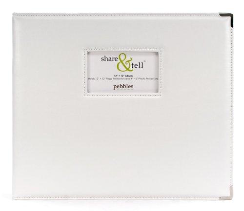 American Crafts Ciottoli condividere & Dì Scrapbook Album 12'X 12'-bianco PSTA770-202