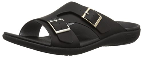 Spenco Women's Brighton Slide Sandal, Black, 11 Medium US