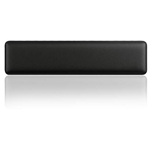 Stanaway Wrist Rest Pad - Comfortable Anti-Skid Base Keyboard Wrist Pad with Soft Memory Foam for Laptop Keyboards and More (Black-Upgrade)