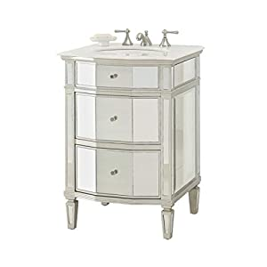 24″ All Mirror Petite Bathroom Sink Vanity – Ashlie Model # HF006