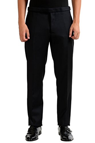 Christian Dior Men's 100% Wool Black Dress Pants US 36 IT 52; - Christian Dior Mens Clothing