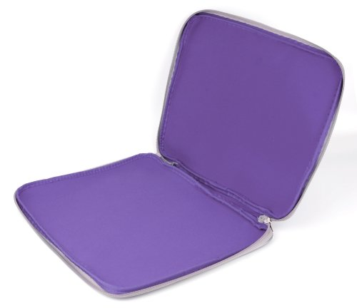 DURAGADGET Purple Travel Water Resistant & Shock Absorbent Neoprene Laptop Sleeve with Dual Zips Compatible with The Lenovo Ideapad 110 15'' | Ideapad 305 15.6'' Laptop by DURAGADGET (Image #2)