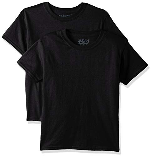 (Gildan Kids DryBlend Youth T-Shirt, 2-Pack, black, Medium)