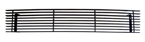MaxMate Fits 07-13 GMC Sierra 1500/2500/3500 Bolton Lower Bumper 1PC Horizontal Billet Black Powder Coated Aluminum Grille Grill Insert