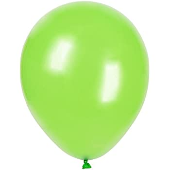 amazon com 12 latex lime green balloons 72ct kitchen dining