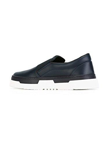 Cuir LY2S0929BLFD12 Garavani Skate Bleu De Homme Valentino Chaussures nqBwFx