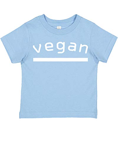 Price comparison product image Hot Ass Tees Vegan Healthy Eating Baby Funny Toddler Fine Jersey Cute Tee T-Shirt Light Blue Size 5 / 6