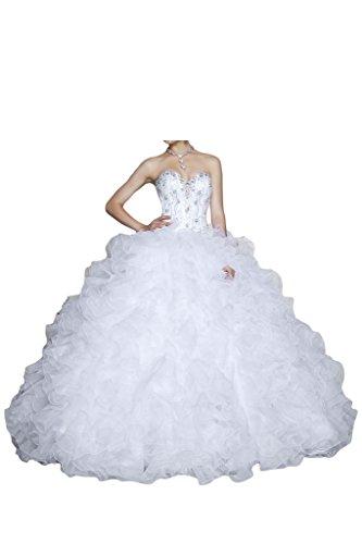 Missdressy - Vestido - Sin tirantes - para mujer blanco
