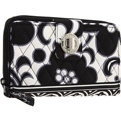 Vera Bradley Turn Lock Wallet in Night and Day, Bags Central