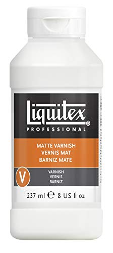 (Liquitex 5208 Matte Varnish 8 Oz. Bottle, 8oz, Multicolor)