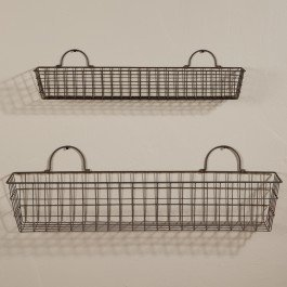 Honey In Me Long Country Wall Baskets