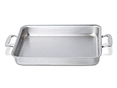 360 Cookware Stainless Steel Bakeware, 9x13 Roasting Pan, American Made, Lasts a Lifetime, Baking Pan for Cakes or a Roasting Pan for Meats, Casseroles and Roasted Vegetables. Professional Grade
