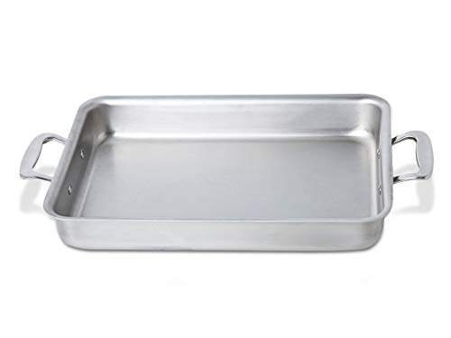 360 Stainless Steel Baking Pan 9x13, Handcrafted in the USA, 5 Ply, Surgical Grade Stainless Bakeware, Dishwasher Safe, Professional Grade Casserole Dish, Roasting Pan  (9x13 Bake and Roast Pan)