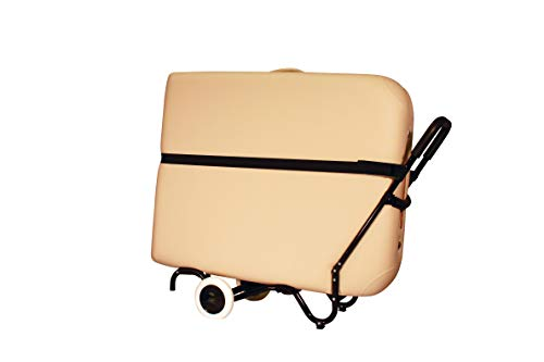 NRG Sporty Massage Table Cart Carrier Trolley with Wheels, Telescoping Handle and Strap - Fits All Brands - Sturdy, Light, Durable, Solid, Highly Mobile Universal Platform