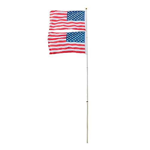 Buy telescoping flag pole with flag