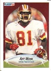 1990 Fleer Football Card #164 Art Monk Mint