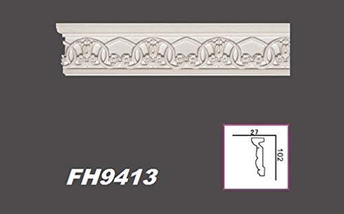 2 km Plat Profil Stuc Barre Décor PU Antichoc hexim Perfect 115x20mm AD 356