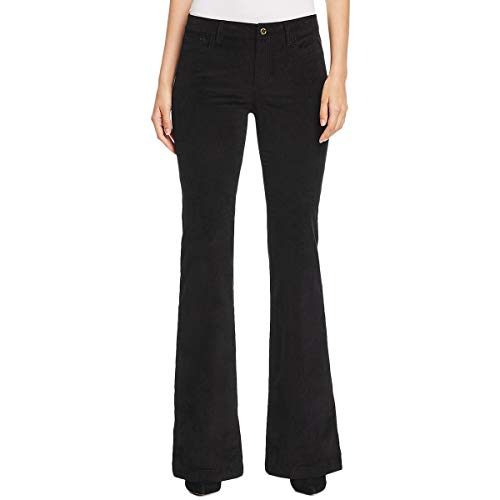 - MICHAEL Michael Kors Womens Selma High Rise Flare Corduroy Pants Black 6