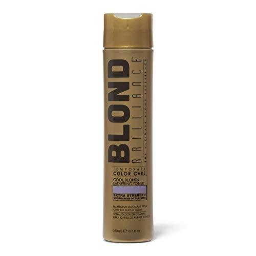 (Blond Brilliance Temporary Color Care Lathering Cool Blond Hair Toner, 10.5oz)