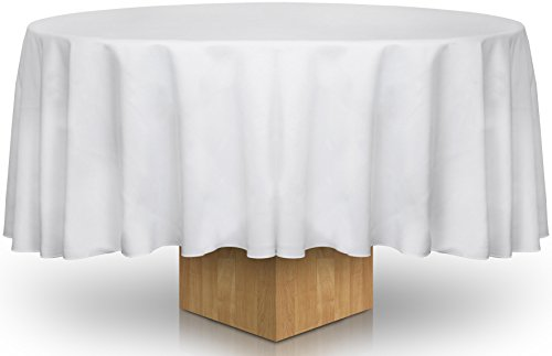 90-Inch White Round Tablecloth - 100 Percent ...