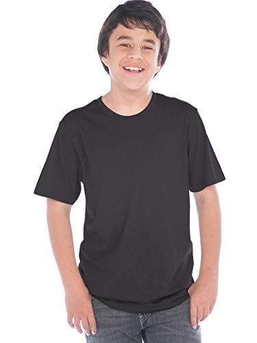 T-shirt Poly Youth - Kavio! Youth Crew Neck Short Sleeve Tee Jersey (Same YJC0263) Black XL