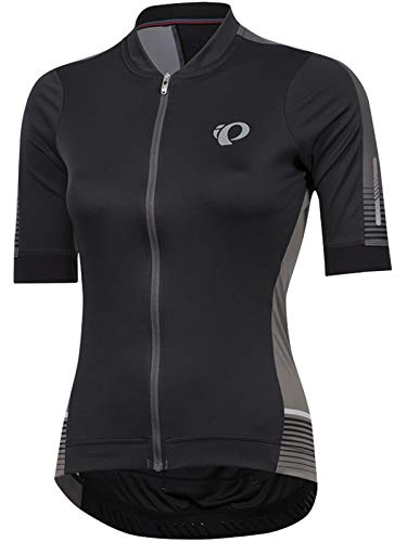 Pearl iZUMi W Elite Pursuit SPD ss Jersey, Black Diffuse, Medium