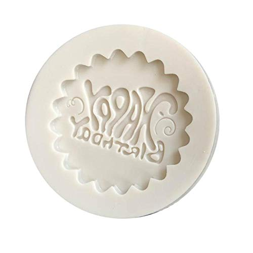 (C-Pioneer 3D Happy Birthday Silicone Fondant Cake Mold Craft Chocolate Mould DIY Baking Sugar)
